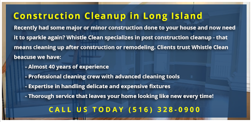 Whistle Clean Construction Cleaning